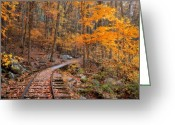 Fall Photographs Greeting Cards - Peaceful Pathway Series 2 Greeting Card by Kathy Jennings