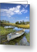 Sea Kayak Greeting Cards - Peaceful Prairie Greeting Card by Debra and Dave Vanderlaan