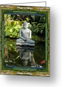 Contemplative Greeting Cards - Peaceful Reflection Greeting Card by Bell And Todd