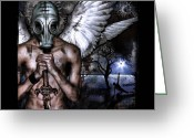 Angel Digital Art Greeting Cards - PeaceKeeper Greeting Card by Mandem