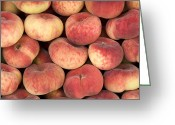 Peach Greeting Cards - Peaches Greeting Card by Jane Rix
