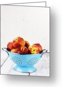 Utensil Greeting Cards - Peaches Greeting Card by Stephanie Frey