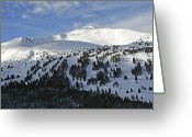 Winter Sports Photo Greeting Cards - Peak 8 Breckenridge Colorado Greeting Card by Brendan Reals