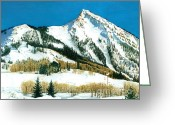 "\""colorado Resort\\\"" Greeting Cards - Peak Adventure Greeting Card by Barbara Jewell"