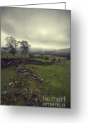 English Countryside Print Greeting Cards - Peak District National Park Derbyshire Greeting Card by Darren Burroughs
