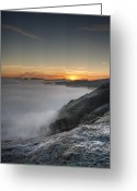 Tor Greeting Cards - Peak District Sunrise Greeting Card by Andy Astbury