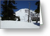 Seattle Greeting Cards Greeting Cards - Peak of Mt Hood Oregon Greeting Card by Glenna McRae