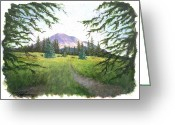 Spanish Peaks Greeting Cards - Peak View Greeting Card by Paul Hoffman