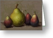 Still Life Greeting Cards - Pear and Figs Greeting Card by Clinton Hobart