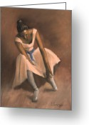 Originals Pastels Greeting Cards - Pearl Joy Greeting Card by L Cooper