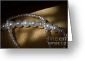 Gift Jewelry Greeting Cards - Pearl Greeting Card by Zafer GUDER