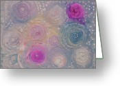Designers Choice Painting Greeting Cards - Pearlescent Painting Greeting Card by Don  Wright