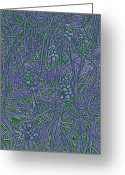 Water Bloom Greeting Cards - Pearls In The Grass 3 Greeting Card by Tim Allen