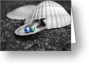 Pearls Greeting Cards - Pearls of Wisdom III Greeting Card by Jai Johnson
