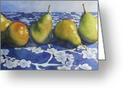 Greens Framed Prints Greeting Cards - Pears Greeting Card by Daydre Hamilton