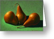 Food Greeting Cards - Pears Greeting Card by Frank Wilson