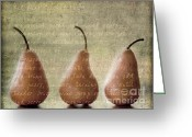 Chic Greeting Cards - Pears To Be Greeting Card by Linde Townsend