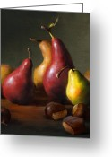 Still Life Greeting Cards - Pears with Chestnuts Greeting Card by Robert Papp