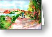 Watson Lake Greeting Cards - Peavine Trail Prescott Arizona Greeting Card by Sharon Mick