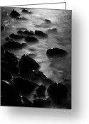 Time Framed Prints Photo Greeting Cards - Pebble Beach by Moonlight Greeting Card by Larry Ricker