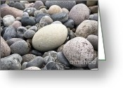 Close Up Greeting Cards - Pebbles Greeting Card by Frank Tschakert