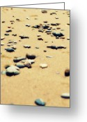 Beachy Greeting Cards - Pebbles on the Beach Greeting Card by Michelle Calkins