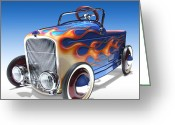 Toy Greeting Cards - Peddle Car Greeting Card by Mike McGlothlen