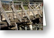 Walk Way Photo Greeting Cards - Pedestrian Bridge At Point Isabel In Richmond California . 7D15082 Greeting Card by Wingsdomain Art and Photography