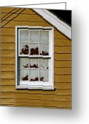 Ellicott Greeting Cards - Peeling Window Greeting Card by Murray Bloom