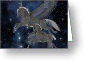 Divine Greeting Cards - Pegasus 04 Greeting Card by Corey Ford