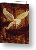 Unicorn Art Greeting Cards - Pegasus Greeting Card by Steve Roberts
