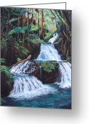 Tropical Island Pastels Greeting Cards - Peles Whispered Dream Greeting Card by Marie-Claire Dole