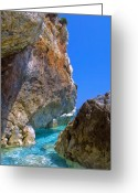 Europe Greeting Cards - Pelion Rocks Greeting Card by Neil Buchan-Grant