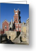 Pena Greeting Cards - Pena Palace Greeting Card by Andre Goncalves