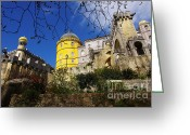 Heritage Greeting Cards - Pena Palace Greeting Card by Carlos Caetano