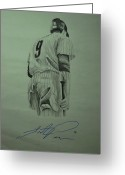 Hunter Pence Drawings Greeting Cards - Pence 9 Greeting Card by Leo Artist