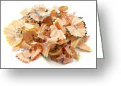 Pencil Greeting Cards - Pencil shavings Greeting Card by Fabrizio Troiani
