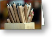 Pencil Holders Greeting Cards - Pencils Greeting Card by Lisa  Phillips