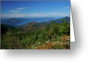 Bayview Greeting Cards - Pend Oreille and the Selkirks Greeting Card by Idaho Scenic Images Linda Lantzy
