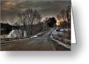 Phoenix Greeting Cards - Pendergast Road Greeting Card by Everet Regal