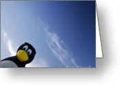 Balloon Fiesta Greeting Cards - Penguin Greeting Card by Angel  Tarantella
