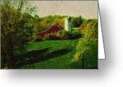 Farm Fields Greeting Cards - Pennsylvania Spring Greeting Card by Gordon Beck