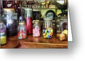 Mason Jars Photo Greeting Cards - Penny Candies Greeting Card by Susan Savad