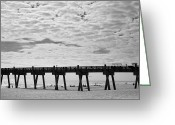 Steven Gray Greeting Cards - Pensacola Beach Greeting Card by Steven Gray