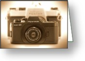 Camera Digital Art Greeting Cards - Pentax 110 Auto Greeting Card by Mike McGlothlen