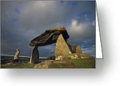 Graves And Tombs Greeting Cards - Pentre Ifan, A Tomb Showing A Use Greeting Card by Andrew Henderson