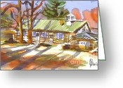 Biblical Greeting Cards - Penuel Lodge in Winter Sunlight Greeting Card by Kip DeVore
