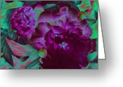 Jrr Greeting Cards - Peony Passion Greeting Card by First Star Art