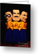 Socal Greeting Cards - Pep Boys - Manny Moe Jack - Painterly - 7D17428 Greeting Card by Wingsdomain Art and Photography