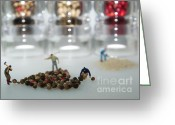 Spice Mixed Media Greeting Cards - Pepper Mill II Greeting Card by Louise Fahy